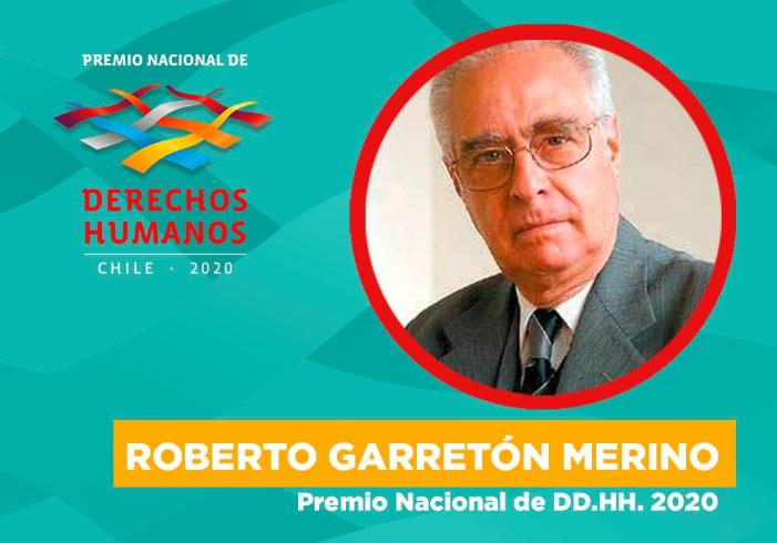 Abogado Roberto Garretón Merino obtiene el Premio Nacional de Derechos Humanos 2020
