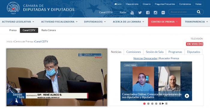 Sitio web de la Cámara de Diputados colapsa debido a la