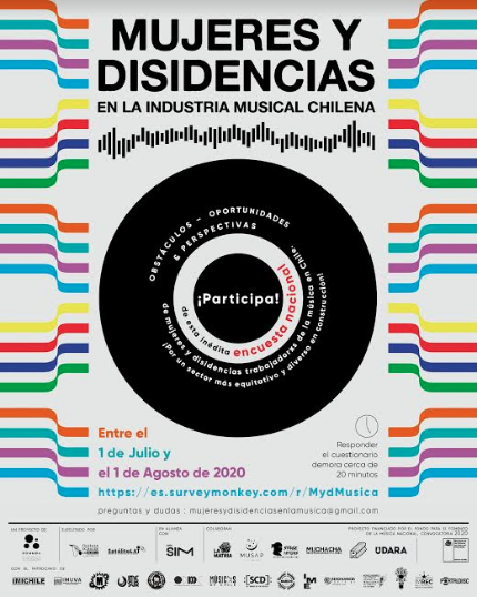 Lanzan encuesta para conocer los obstáculos, oportunidades y perspectivas de las mujeres y disidencias en la industria musical chilena