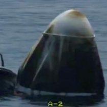 Cápsula de SpaceX ameriza en el golfo de México