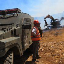 Nuevo ataque incendiario en Mulchén deja seis camiones y tres camionetas quemadas