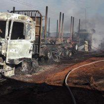 Quema de camiones en La Araucanía: diputados RN presentan proyecto para aumentar sanciones cuando hay niños involucrados en ataques