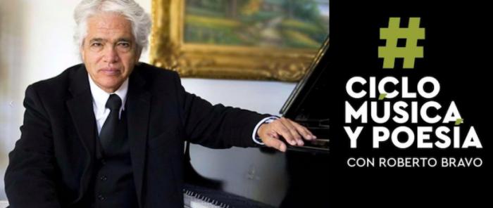 Roberto Bravo en ciclo de música y poesía vía online