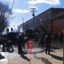 Se registran enfrentamientos en Cañete entre Carabineros y manifestantes mapuche tras la marcha por los 100 días de los presos en huelga de hambre