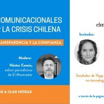 """""""Herramientas comunicacionales para enfrentar la crisis chilena"""", el nuevo ciclo de charlas organizado por la Facultad de Comunicaciones de la UC y El Mostrador"""