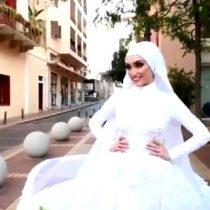 Sesión fotográfica a novia registró momento exacto de la mega explosión en Beirut