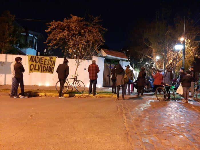 Realizan velatón en ex centro de torturas de Obispo Orrego 241 de Ñuñoa