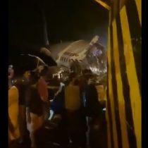 Avión con más de 170 pasajeros se estrella al aterrizar en India