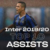 Inter de Milán destacó a Alexis Sánchez en las 10 mejores asistencias de la temporada