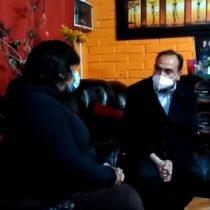 El nuevo alcalde de San Bernardo, Leonel Cádiz visitó a Fabiola Campillai en su primera actividad como jefe comunal
