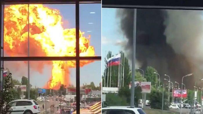 Explosión en gasolinera en Rusia deja al menos 12 personas heridas