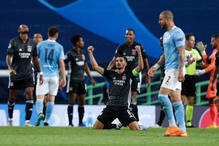 Champions League: el Lyon derrota 3 a 1 al City de Guardiola