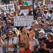 Manifestante que acudió a marcha