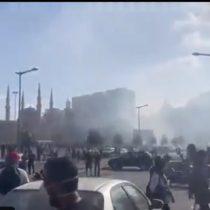 Registran enfrentamientos entre manifestantes y la policía frente al Parlamento en Beirut