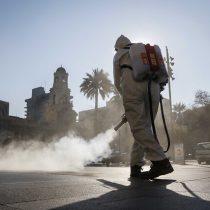 En la previa de la Transición: sanitizan Santiago con nanopartículas de cobre