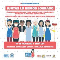 Tras 6 meses de pandemia, trabajadoras de casa particular serán incorporadas al seguro de cesantía