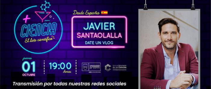 """Divulgador científico español Javier Santaolalla en nuevo programa """"+Ciencia, el Late científico"""" vía online"""