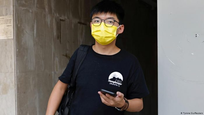 Detenido Joshua Wong, conocido activista prodemocracia en Hong Kong