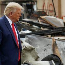 Trump visita Kenosha y ratifica mano dura contra protestas