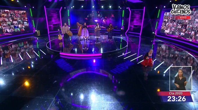 """""""No estamos todas"""": el potente mensaje feminista de las cantoras populares en el """"Vamos Chilenos"""""""