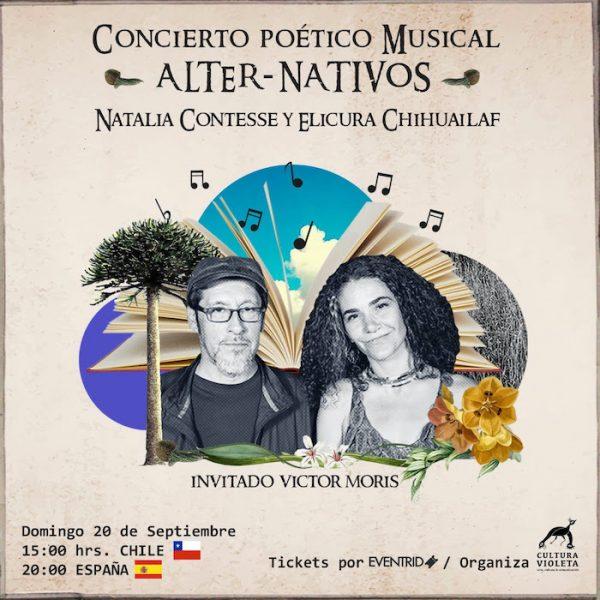 """Concierto poético musical """"Alter-nativo"""" con Elicura Chihuailaf y Natalia Contesse vía online"""