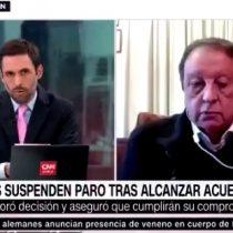 La tensa entrevista televisiva a Sergio Pérez, el líder de los camioneros en paro, tras el fin de la movilización