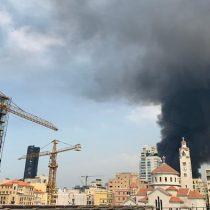 Gran incendio en el puerto de Beirut semanas después de la devastadora explosión