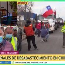 Uno de los líderes del paro de camioneros, José Villagrán, abandonó entrevista en vivo ante pregunta de periodista