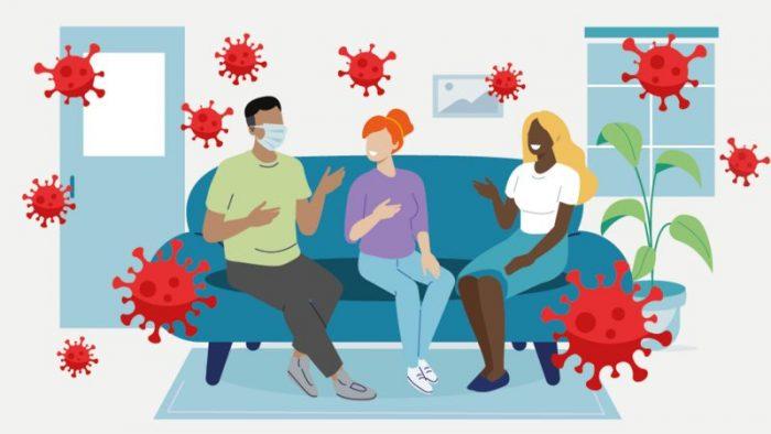 Covid-19: el gráfico que ayuda a evaluar el riesgo de contagio cada vez que vas a una reunión social