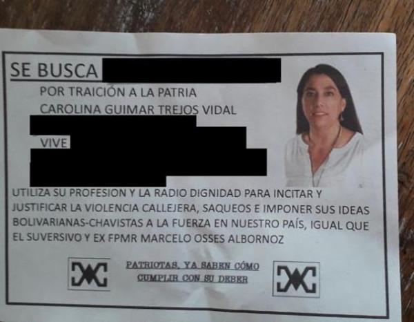 Comunidad de la Escuela de Periodismo USACH expresa repudio por amenazas ultraderechistas a profesora Carolina Trejo