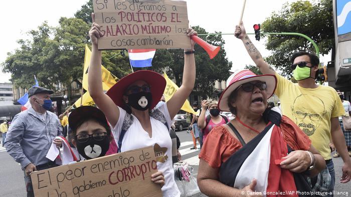 Costa Rica: enfrentamientos cerca de la Casa Presidencial tras marcha