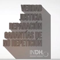 Con intervención lumínica, INDH invita a reflexionar sobre el 18 de octubre