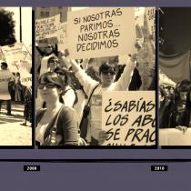 """Muestra fotográfica: """"feminismo, resistencias y rebeldías. 30 años de la lucha por el aborto en chile"""""""