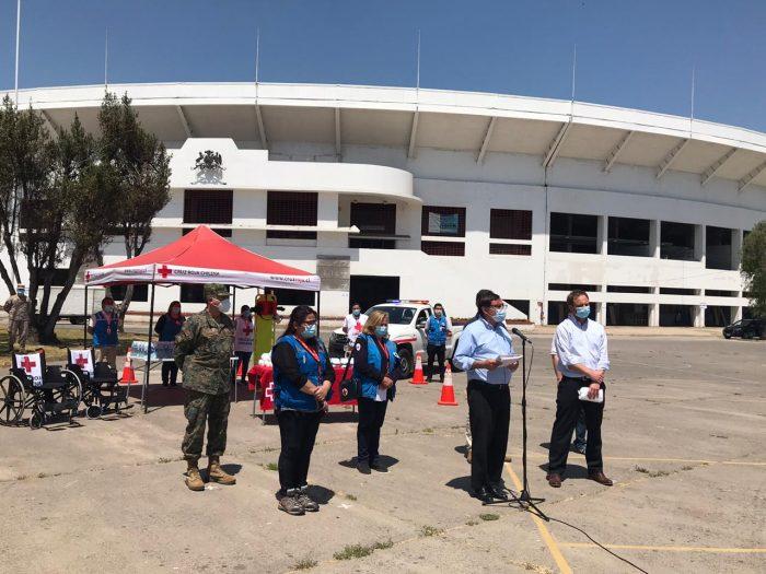 Entregan 4 mil mascarillas a la Cruz Roja para reforzar medidas preventivas durante el plebiscito en la capital