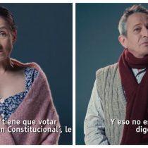 """La aparición de Ernesto y Rosita de """"La Fiera"""" en la franja electoral del Apruebo"""