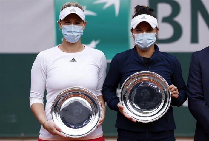La dupla Guarachi y Krawczyk cayó frente Babos y Mladenovic en la final de Roland Garros