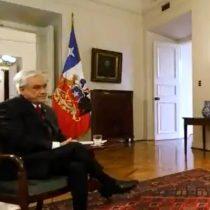 """Informe de la DINE: Piñera insiste en que """"si hubo intervención extranjera, es una posibilidad"""""""