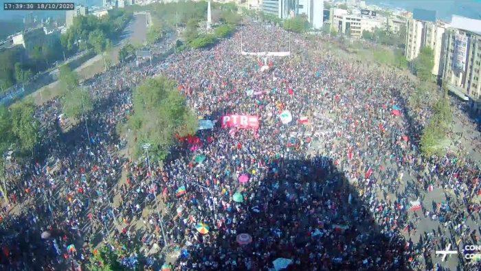 Siga en vivo la transmisión de Galería Cima sobre la Plaza Italia en el aniversario del estallido social