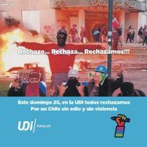 """""""De poca monta"""": Oposición critica """"campaña del terror"""" de la UDI por inserto relacionando el """"Apruebo"""" con la violencia"""