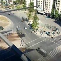 Escaramuzas en Plaza Baquedano: un grupo ya llegó al sector para manifestarse en medio del Plebiscito