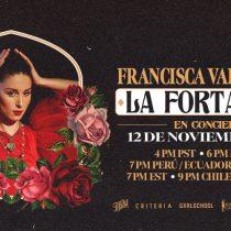 Francisca Valenzuela presentará en formato streaming el concierto de su último álbum: La Fortaleza