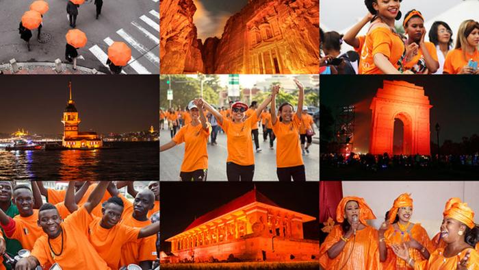 #OrangeTheWorld y diversas activaciones en el Día Internacional de la Eliminación de la Violencia contra la Mujer en medio de una pandemia
