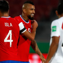 Con doblete de Arturo Vidal, Chile venció por 2 a 0 a Perú en el Estadio Nacional