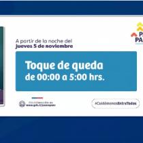 Se atrasa una hora el inicio del toque de queda: comenzará a las 00:00 horas excepto en Magallanes y Puerto Montt