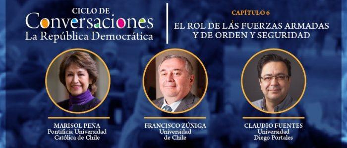 """""""Conversaciones sobre la República Democrática"""": académicos debatirán sobre FF.AA. y Carabineros, de la Constitución de Pinochet al proceso constituyente"""
