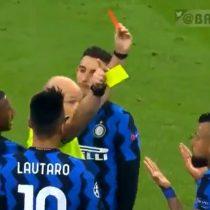 Dos amarillas en segundos: La torpe expulsión de Arturo Vidal en duelo clave del Inter ante el Real Madrid por Champions League