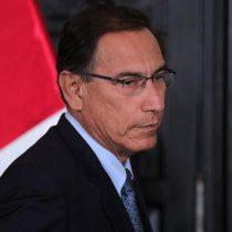 Martín Vizcarra tras su destitución de la presidencia de Perú: