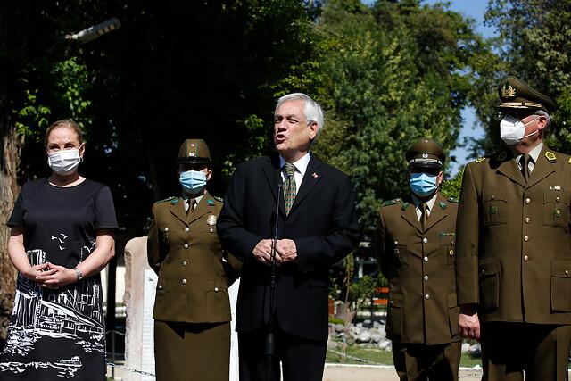 Presidente Piñera tras misa por carabinero muerto en La Araucanía: