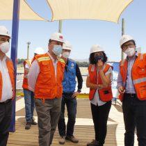 Ministro de Obras Públicas visitó proyecto que reforzará el suministro de agua potable en el sector sur de Santiago