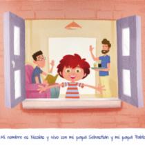"""Cruz Roja española incluye a """"Nicolás tiene dos papás"""" en catálogo de 75 libros para niñas y niños"""